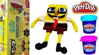 Spongebob Surprise Eggs Nickelodeon 3 in 1 Box NEXT Spongebob Play Doh Hand Creation