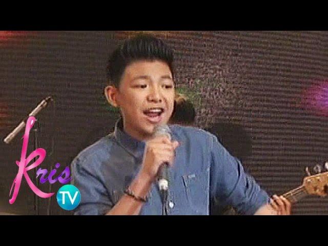 """Kris TV: Darren Espanto sings """"Sugar"""""""