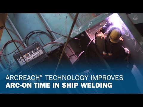 Miller's XMT ArcReach Improves Productivity in Shipyard Welding