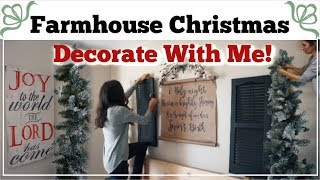 CHRISTMAS DECORATE WITH ME FARMHOUSE DINING ROOM | Momma From Scratch
