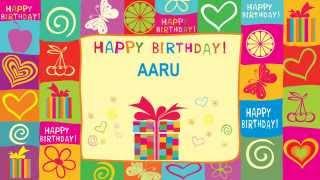 Aaru indian pronunciation   Card Tarjeta2 - Happy Birthday