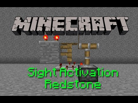 Minecraft: Sight Activation Redstone (Wireless Redstone!)