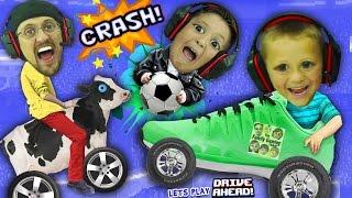 FGTEEV BOYS CRASH, SMASH & SOCCER DASH!  Dad vs. Sons Drive Ahead iOS App Game