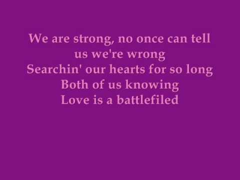 Love Is A Battlefield [Chours Lyrics]