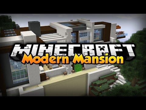 Minecraft: Modern Mansion [ Redstone Smart House ]