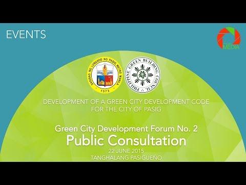 Pasig City: Green City Development Forum No. 2, Public Consultation
