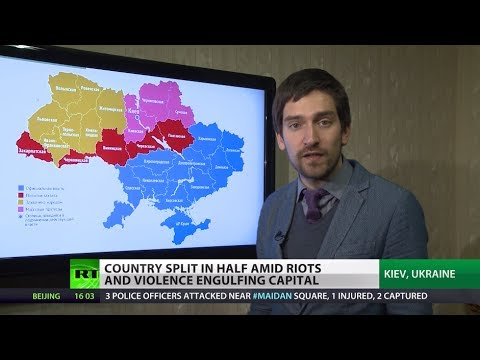West v East: Ukraine split in half amid violence engulfing capital