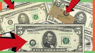 RARE FIVE DOLLAR BILLS WORTH MONEY - MISPRINTED MONEY IN YOUR POCKETS!!