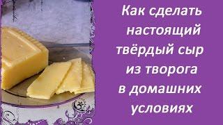 Как сделать настоящий твёрдый сыр из творога в домашних условиях, быстрый, простой и дешёвый рецепт