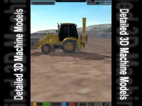 Simulador de retrocargadora mixta,excavadora de ruedas y cadenas y pala cargadora de cadenas