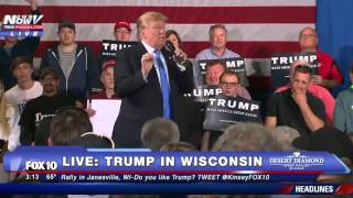 FULL Donald Trump Rally in Janesville, Wisconsin - Count How Many Times He Says Motorcycle - FNN