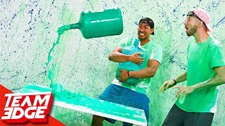 Water Bottle Flip Challenge Returns! | Slime Punishment Edition!!