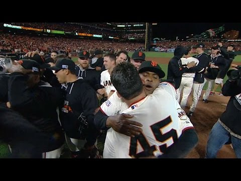 Giants Walk Off To Win Nl Pennant video