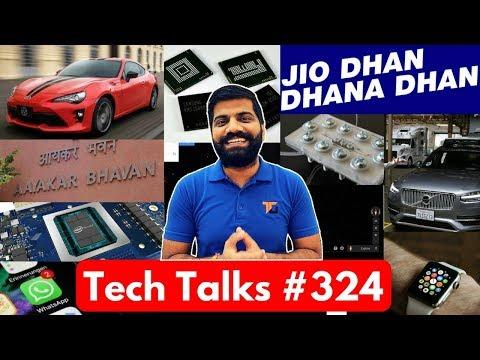 Tech Talks #324 - Jio New Plans, Oppo F5, Intel Nervana, Apple Saved Life, Toyota Fuel Cell