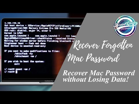 Reset Mac's password without losing DATA! - Easy - No Disc