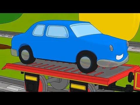Развивающие мультики про машинки и паровозики раскраски