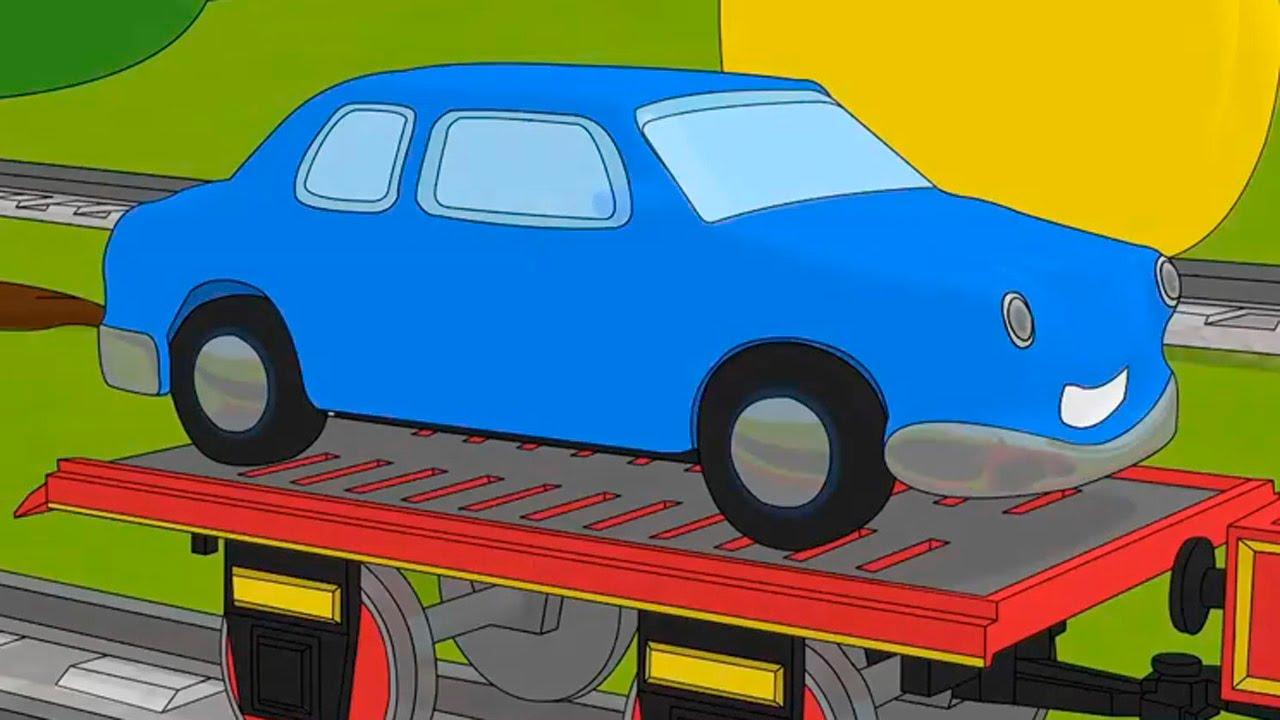 Мультик про машинки раскраски паровозик