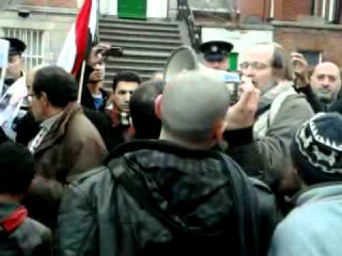 Protesters demonstrate at Egyptian embassy in Dublin