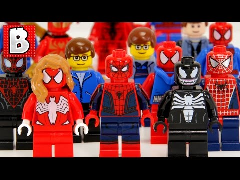 Every Lego Spider-Man Minifigure Ever Made!!! 2016 Update   Collection Review