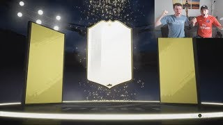 INSANE ICON IN A PACK!! 😱👏- OUR ELITE 2 FUT CHAMPIONS REWARDS + RANK 1 PACKS! FIFA 19 PACK OPENING