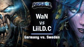 ► WarCraft 3 - Germany vs. Sweden - WaN (UD) vs. LiiLD.C (NE)