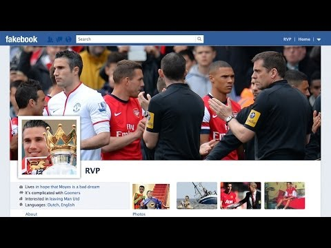 Robin Van Persie Tries To Force A Move Back To Arsenal On Fakebook