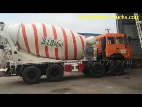 10 units beiben 3138  mixer truck export to west africa