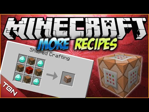 Minecraft 1.7.10 | More Crafting Recipes MOD | [ Craftea el bloque de comandos, bedrock y mas! ]