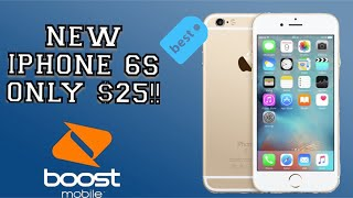 New IPhone 6S For Only $25!! Boost Mobile Promotion