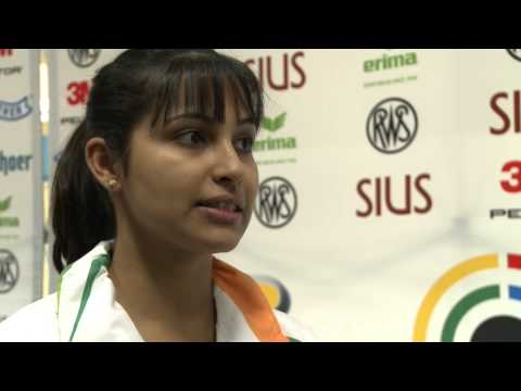 Interview (ENG) with Heena Sidhu - Womens 10m Air Pistol World...