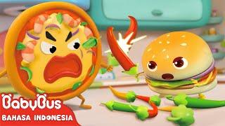 Geng Pizza VS Geng Hamburger | Lagu Makanan | Lagu Anak-anak | Bahasa Indonesia | BabyBus