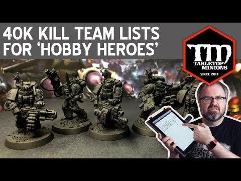 40k Kill Team Lists For 'Hobby Heroes'