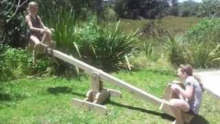Seesaw with sliding seats