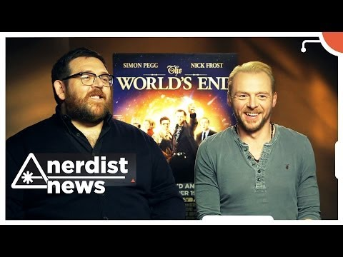 Simon Pegg & Nick Frost answer Twitter questions and talk Doctor Who: Nerdist News