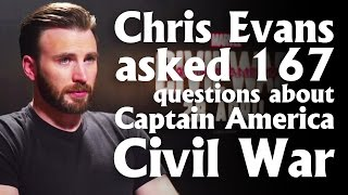 Chris Evans asked 167 questions about Captain America: Civil War