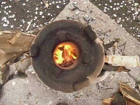 Как сделать печь из глины.