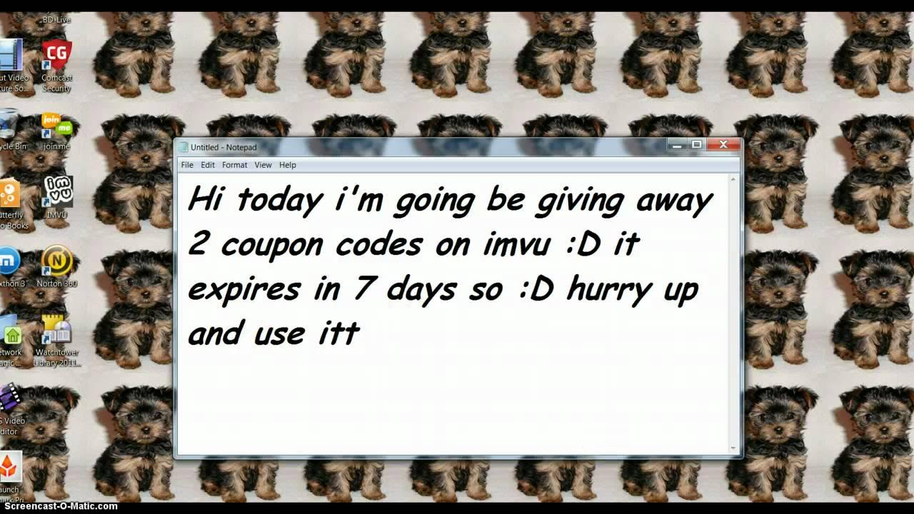 Imvu vip coupon code 2018