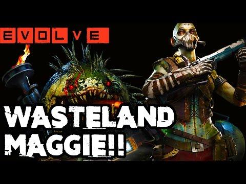 EVOLVE WASTELAND MAGGIE GAMEPLAY - NEW ADAPTATIONS!! Evolve Gameplay Walkthrough (XB1 1080p)