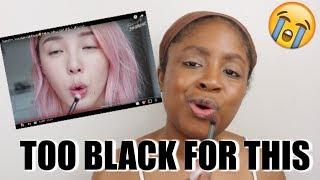 BLACK GIRL TRIES FOLLOWING A KOREAN MAKEUP TUTORIAL