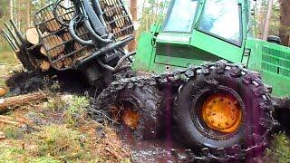John Deere 1110D logging in mud