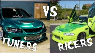 Tuners vs Ricers, The key differences