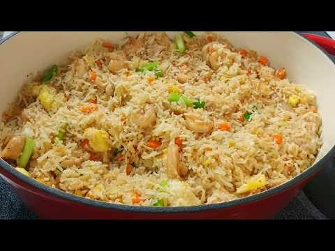 HOW TO MAKE CHICKEN AND SHRIMP FRIED RICE RECIPE {SUPER SIMPLE & EASY METHOD}