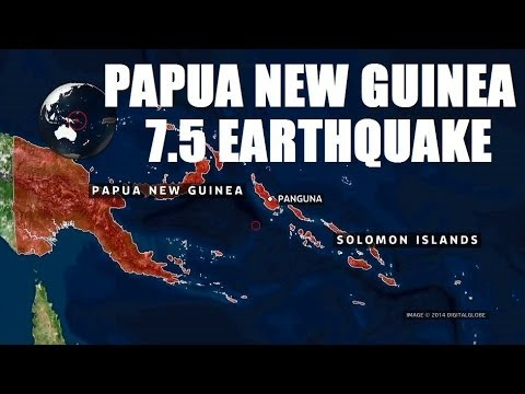 POWERFUL MAGNITUDE 7.5 EARTHQUAKE ROCKS PAPUA NEW GUINEA SATURDAY MORNING (APR 19, 2014)