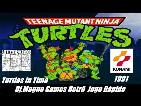 Teenager Mutant Ninja Turtles Turtles in Time Konami 1991 Mirage Studios Jogo Rápido