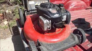 Lawn Mower Repair - Won't Start After Rain - Water in Fuel