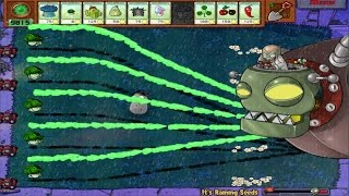 PLANTS VS ZOMBIES 100% CATTAIL VS DR. ZOMBOSS`S MOD  HALLOWEEN
