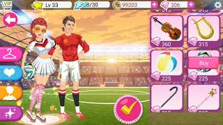 Star girl game ..New contest ...topic...soccer Match kick off/