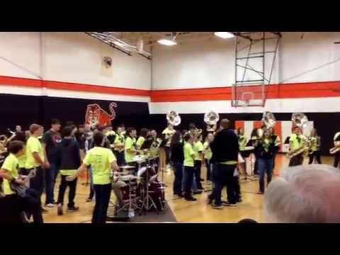 PCHS The Fire Pep Band 2014 HEY BABY