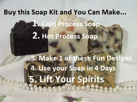 How to Make Cold Process & Hot Process Soap, For the First Time, from scratch, Easy Recipe Kit