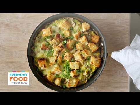 Mushroom, Cheddar, and Toast Frittata - Everyday Food with Sarah Carey ...
